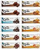 Protein Riegel Lowcarb & Low Fat Mix Box – Whey Eiweißriegel ohne Zuckerzusatz 12 x 60g Q-Bar Proteinriegel Low Carb