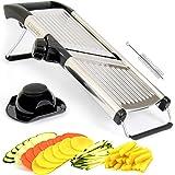 LUVEH - Mandolina Tagliaverdure Professionale da Cucina in Acciaio Inox. Affettatrice Taglia Affetta Verdure Regolabile…