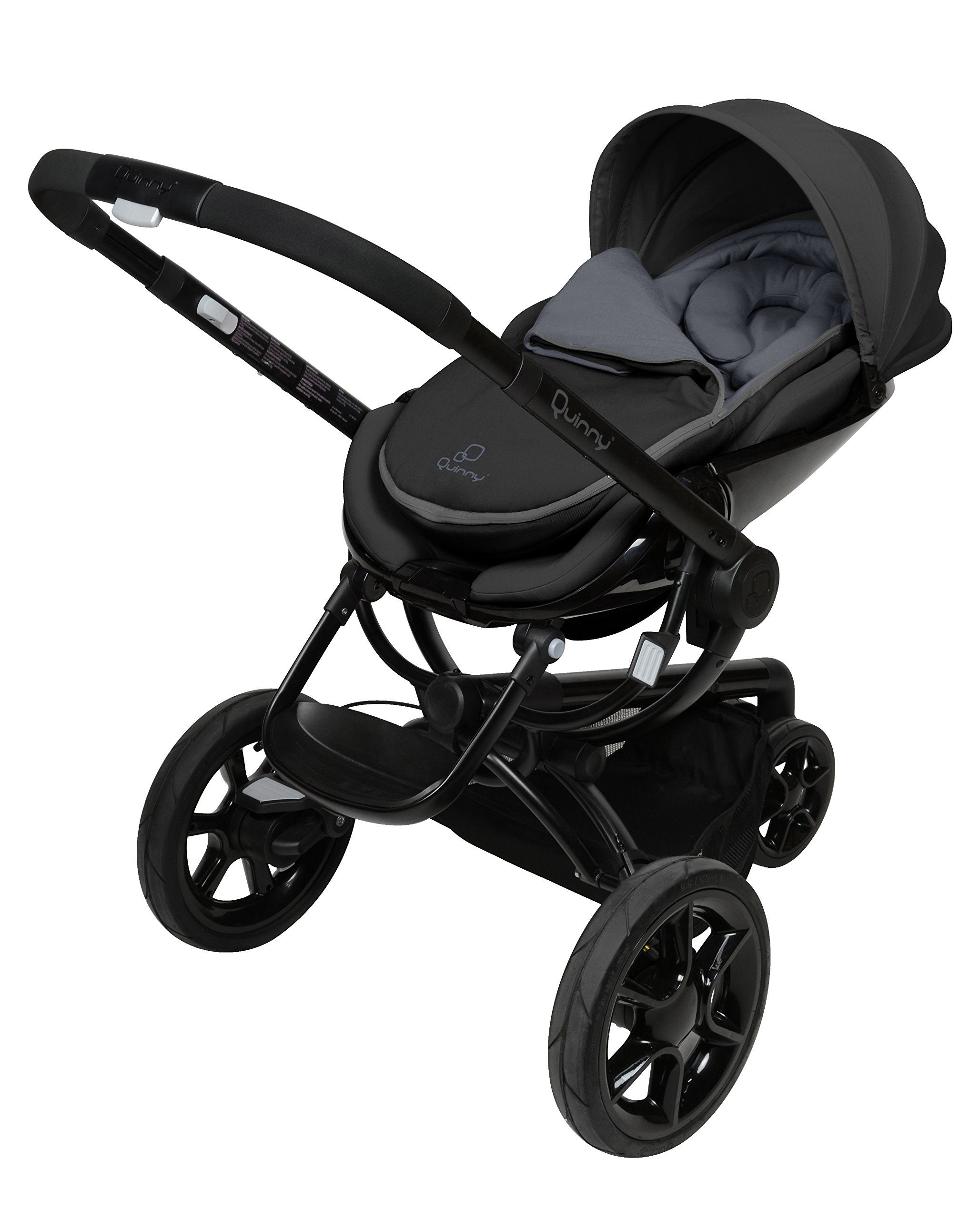 Quinny Moodd Pushchair Frame, Black Devotion Maxi-Cosi Stylish urban pushchair with cozy baby nest - suitable from birth to 15 kg (approx. 3.5 years) Foam filled comfort tyres and lockable front swivel wheels for a smooth ride Reversible seat unit with 3 recline position (including lie-flat options for newborns) 3