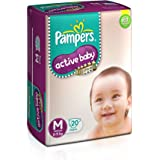 Pampers Active Baby Diapers, Medium, 20 Count