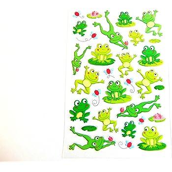 AVERY Zweckform 56095 Deko Sticker Emoticon Frosch 32