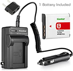 NEW Battery + Charger for Sony Cyber-shot DSC-W90 W80 NP-BG1 + Car Plug