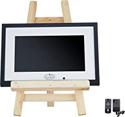 PicaVue Ips Full HD (Natural Look) 15.6 inches Digital Photo Frame with Motion Sensor, SD/USB, Plays Photo Slideshow, Video, Audio, Black