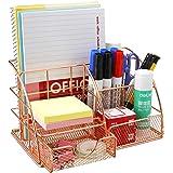 Comfook Organiseur de bureau, Boîte de rangement organiseur et tiroir en métal Porte-styloaver Tiroir pour bureau école maiso