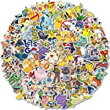 SZENEST Pokemon stickers 100 stuks schattige cartoon Pikachu stickers voor kinderen tieners waterdicht vinyl anime autosticke