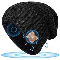 Regalo Natale Uomo & Donna Cappello Bluetooth V5.0 - Berretto Musicale con Cuffie Bluetooth Regali Originali per Lei…