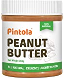 Pintola All Natural Peanut Butter (Crunchy) (350g) (Unsweetened, Non-GMO, Gluten Free, Vegan)
