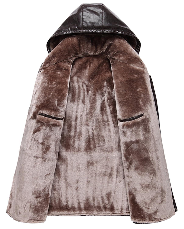 Men's Hooded Thick warm fashion Faux leather leather jacket: Amazon.co.uk:  Clothing