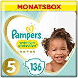 Pampers Premium Protection Größe 5, 11–16 kg, 136 Windeln, Monatsbox