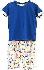 Frangipani Unisex Cotton Construction Collage Pyjama Set