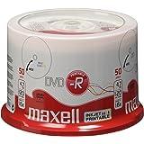 Maxell M180 - DVD-R vírgenes, 16x, 4.7 GB, 50 piezas
