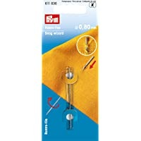 Prym, Ø 0,80 mm 611836 Faden-Fee Ziehfaden-Nadel-Fangnadel, Stahl, silberfarbig, 1 Stück