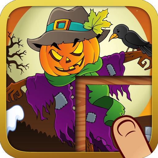 Schaurige Halloween Puzzles für Kinder - Lernen, spielen, -