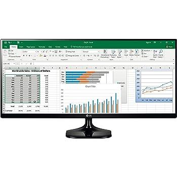 LG 25UM58-P Ecran PC LED IPS - 25'' - 21:9 - 2560x1080 - 250cd/m² - 5ms - Noir (2xHDMI)