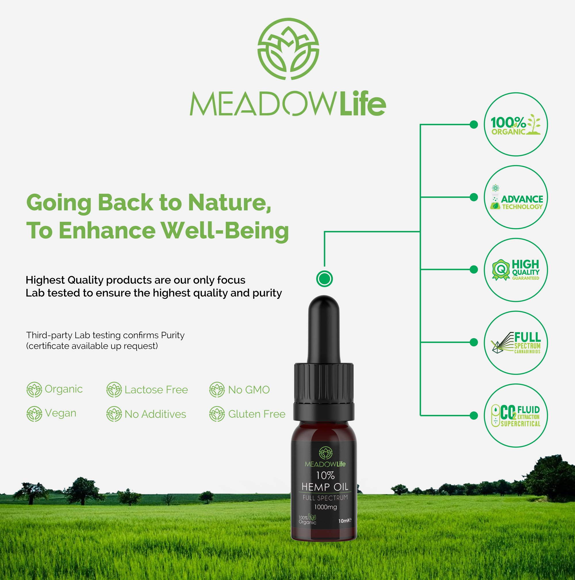 Hemp Life Hemp Seed Oil, Natural Oil, 500mg, Organic, Stress