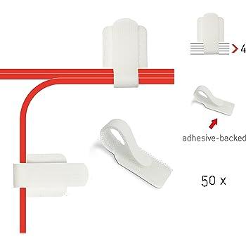label the cable kabelhalter selbstklebend mit klettverschluss kabelf hrung kabelbinder. Black Bedroom Furniture Sets. Home Design Ideas