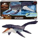 Jurassic World Mosasaurus defensor del océano Dinosaurio articulado hecho con plastico reciclado, figura de juguete para niño