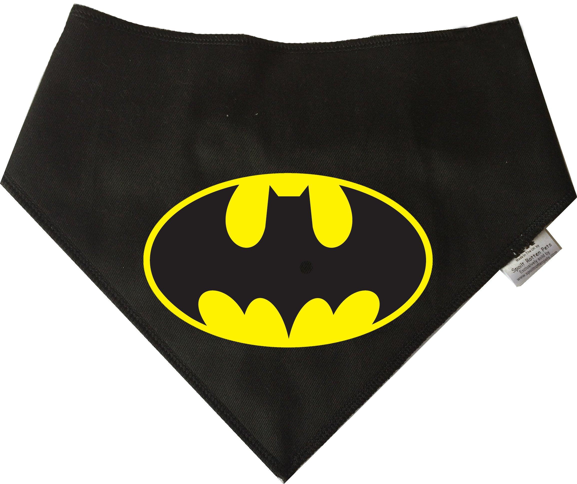 Spoilt Rotten Pets, S4 BAT DOG, Large Black Dog Bandana. Batman Inspired Bandana Suitable For Husky, GSD, Newfies & Chow Chow Sized Dogs