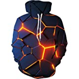 SunFocus Hombres Mujeres Sudaderas con capucha 3D Cool Print Manga larga Pullover Hoody Unisex Funny Graphic Casual Adult Tee