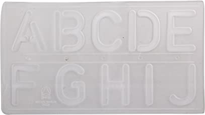 Omega Student Lettering Stencil,Size 50 MM, Pack of 4