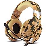 YINSAN Cuffie Gaming per PS4, Cuffie da Gioco Over Ear con Microfono, RGB LED, Audio Cavo 3.5mm e Controllo del Volume…