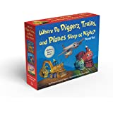 Where Do Diggers, Trains, and Planes Sleep at Night? Board Book Boxed Set (Where Do...Series)