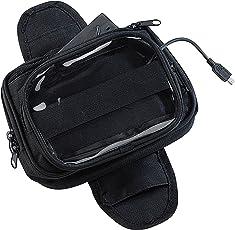 NavGear Motorradnavitasche: Magnetische Navi-Tasche für den Motorrad-Tank, mit Powerbank-Funktion (Magnetische Navitasche)