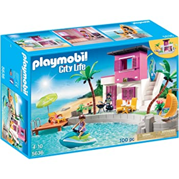 Playmobil 5575 gioco di costruzioni con piscina e for Gioco di piscine