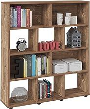 Artely Book Shelf, Brown, 109 cm x 91 cm x 25 cm