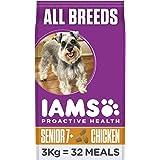 Iams for Vitality - Alimento Secco per Cani Anziani di Taglia Piccola e Media, Crocchette con Pollo - 3 kg