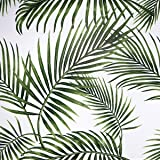 Papel Adhesivo para Muebles Hojas Verdes 45cmX2m Impermeable Papel Pintado Vinilo Pegatina Para Muebles PVC Rollo Decorativos