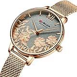 CURREN 9065 Ladies Stainless steel Casual Waterproof Small Dial Pattern Watch