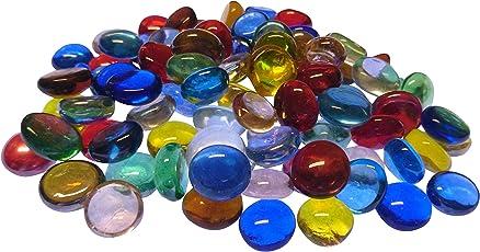 Fliesenhandel Fundus 12-16mm Glasnuggets 1kg Muggelsteine Bunt Mix Nuggets klein