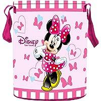 Kuber Industries Disney Minnie Print Round Non Woven Fabric Foldable Laundry Basket, Toy Storage Basket, Cloth Storage…