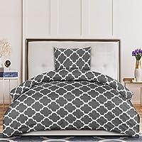 Utopia Bedding Housse de Couette 135x200 cm avec 1 Taie d'oreiller 80x80 cm - Gris Parure de Lit 1 Personne - Sets de…