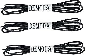 Demoda Black Shoe Laces (Pack Of 3 Pair- Black,Thin Round)