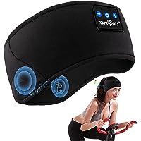 Schlafkopfhörer Bluetooth, Schlaf Kopfhörer Bluetooth V5.0 Schlafmaske Sport Stirnband Kopfhörer mit Ultradünnen HD…