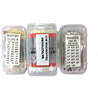 Generic CRT01 Dengineers Crt Capacitor-Resistor-Transistor Kit 60 Values, 310 Piece Components Box Pack For Engineering…