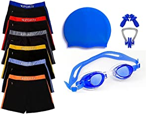 GOLDEN GRIL Swimming Kit with Authentic Men Swim Trunks, S,M,L,XL, - 26,28,30,32,34 and 36 Waist Size