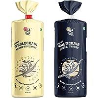 Grainic Organic Wholegrain Brown Rice Cakes ('Multigrain' and 'Turmeric, Black Pepper and Himalayan Salt' Combo) (Pack…