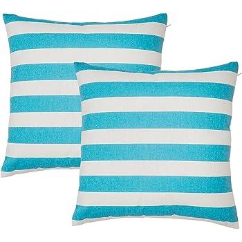 Avanzza, 2 fodere per cuscino, 40 x 40 cm, di colore turchese, per sofà e decorativi, della linea Decor Chic