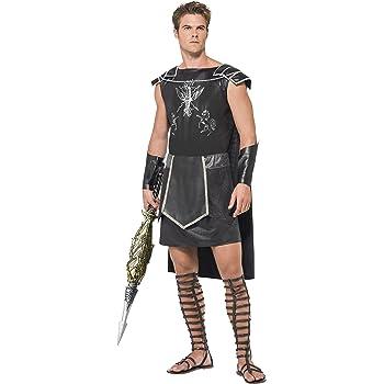 Smiffys 45495S Déguisement Homme Gladiateur Romain, Noir, Taille S ... 0ef93c4eec5