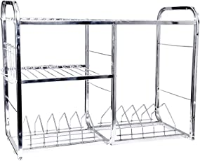 Royal Sapphire 18 x 24 inch Wall Mount Kitchen Dish Rack Plate Cutlery Stand/Kitchen Utensils Rack/Modern Kitchen Storage Rack