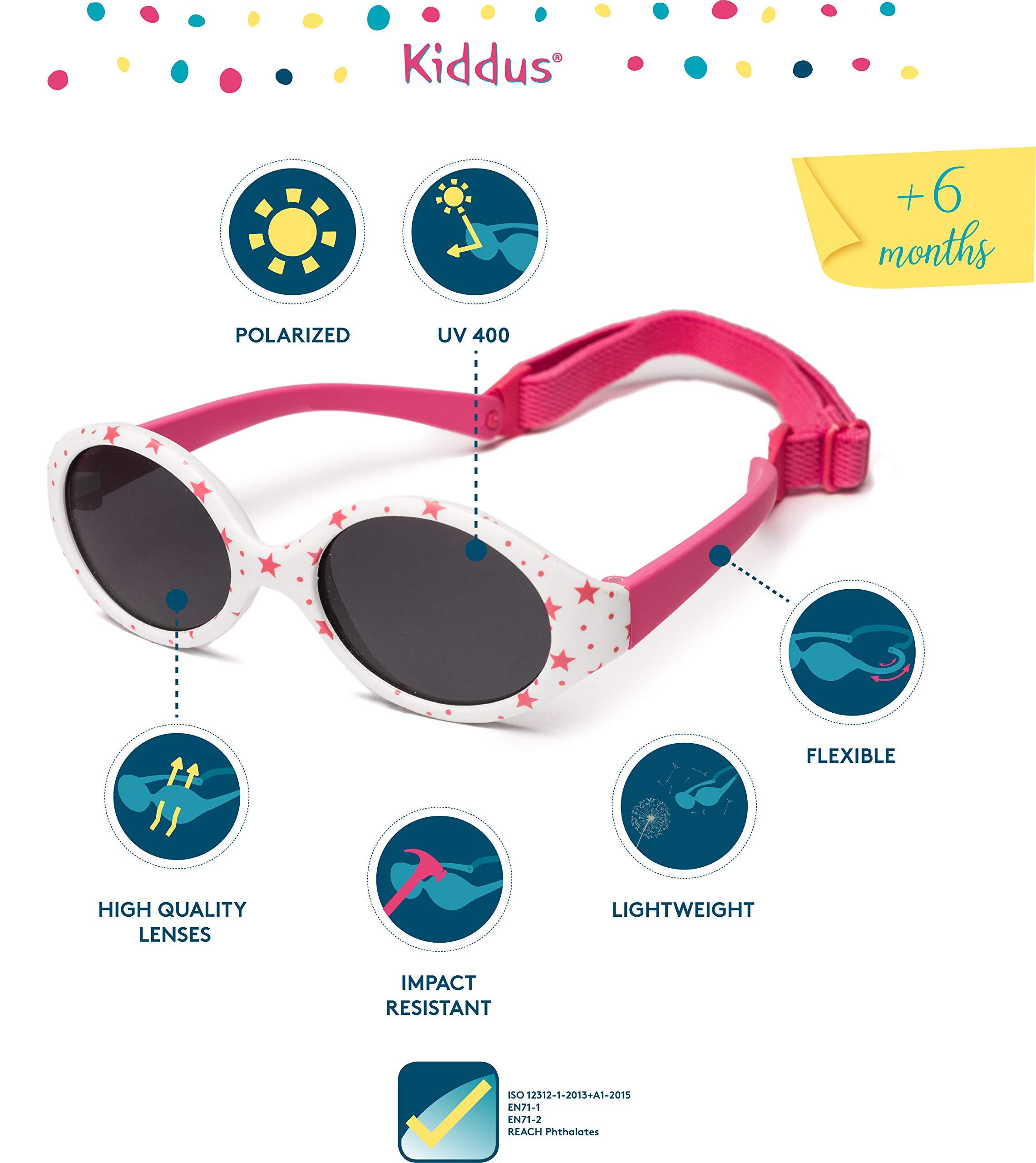 Kiddus Gafas de sol POLARIZADAS bebe para niños y niñas a partir de 6 meses. SUPER FLEXIBLES. Protección solar UV400… 2