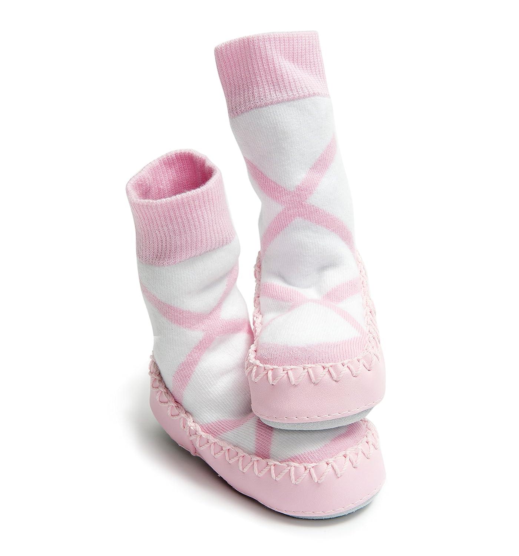 mocc ons cute moccasin style slipper socks ballerina 18 24