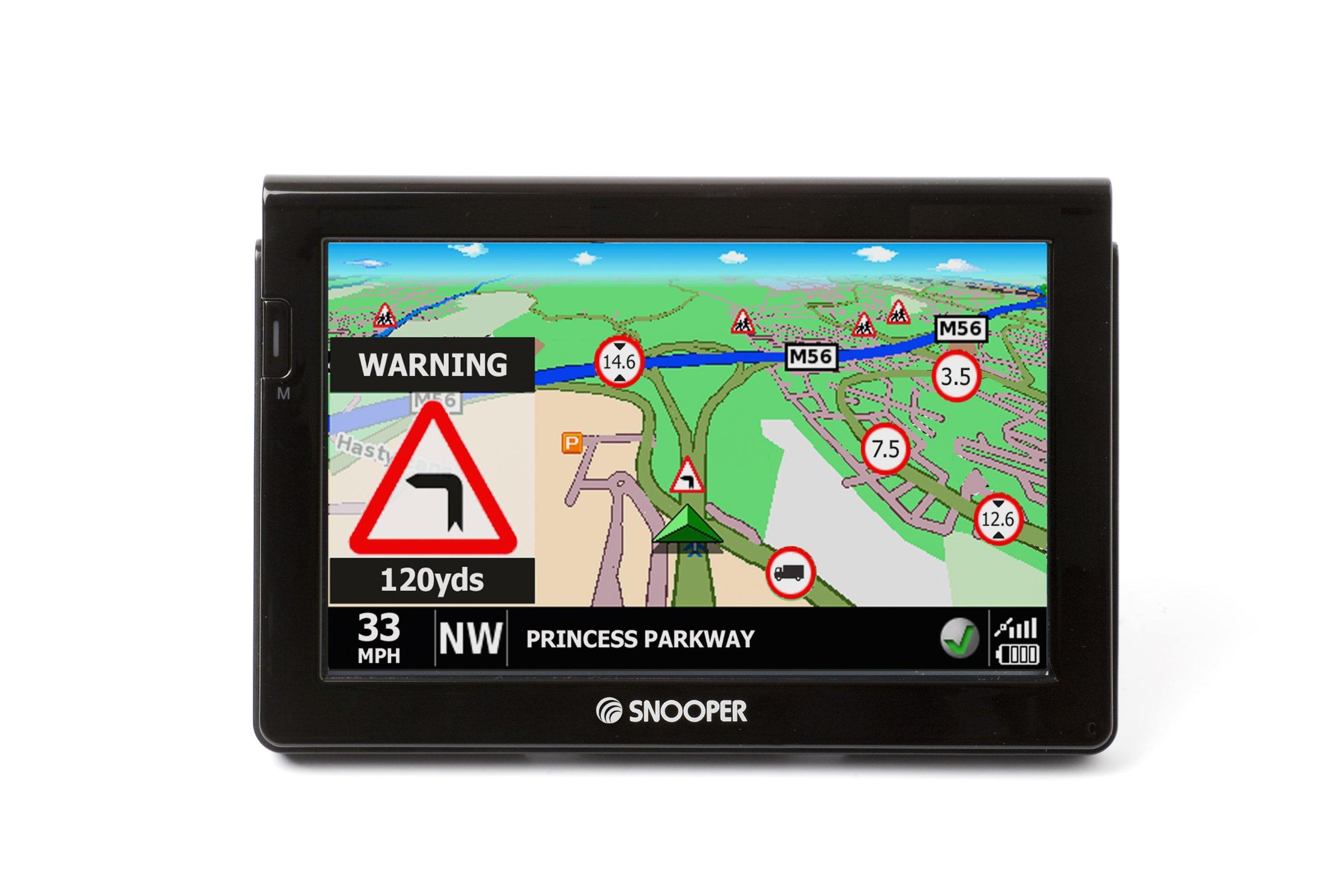 Snooper-S7000-Truckmate-LKW-Navigationssystem-178-cm-7-Zoll-Touchscreen-Display-TMC-Pro-DVB-T-SD-Karte-USB-20