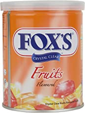 Nestle Fox'S Crystal Clear Fruits Flavored Candy Tin, 180g