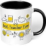 "1 Mug -""Best Teacher Ever"" Teachers Mug - Perfect for your cuppa Coffee, Tea, Karak, Milk, Cocoa or whatever Hot or Cold Beve"
