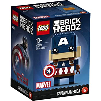 LEGO - 41589 - Brickheadz- Jeu de Construction - Captain America