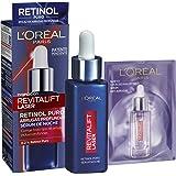 L'Oreal Paris Dermo Expertise Sérum de Noche Revitalift Laser con Retinol Puro, Cuidado Antiedad, Corrige Arrugas Profundas,